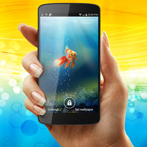 Goldfish in your Phone LWP