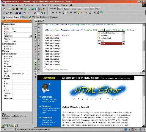 Spider Writer HTML Editor