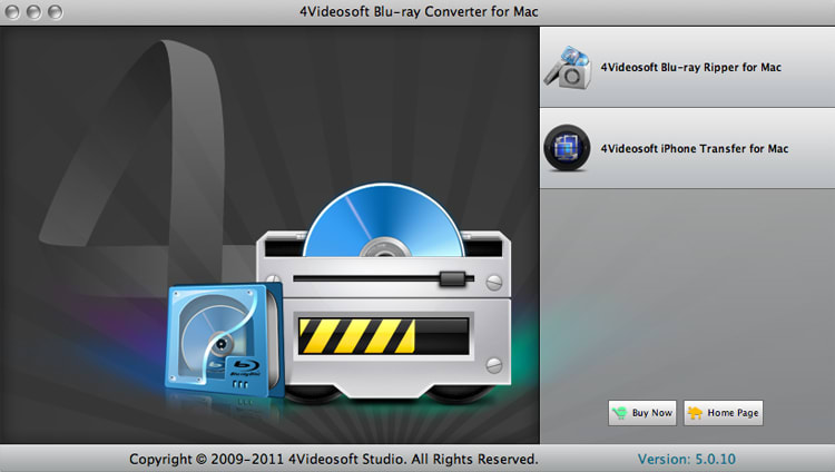 4Videosoft Blu-ray Converter for Mac