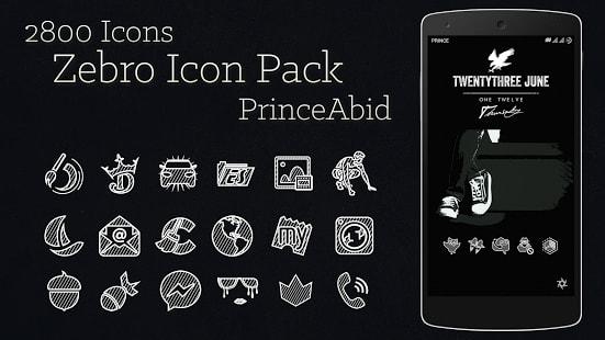 Zebro White Icon Pack