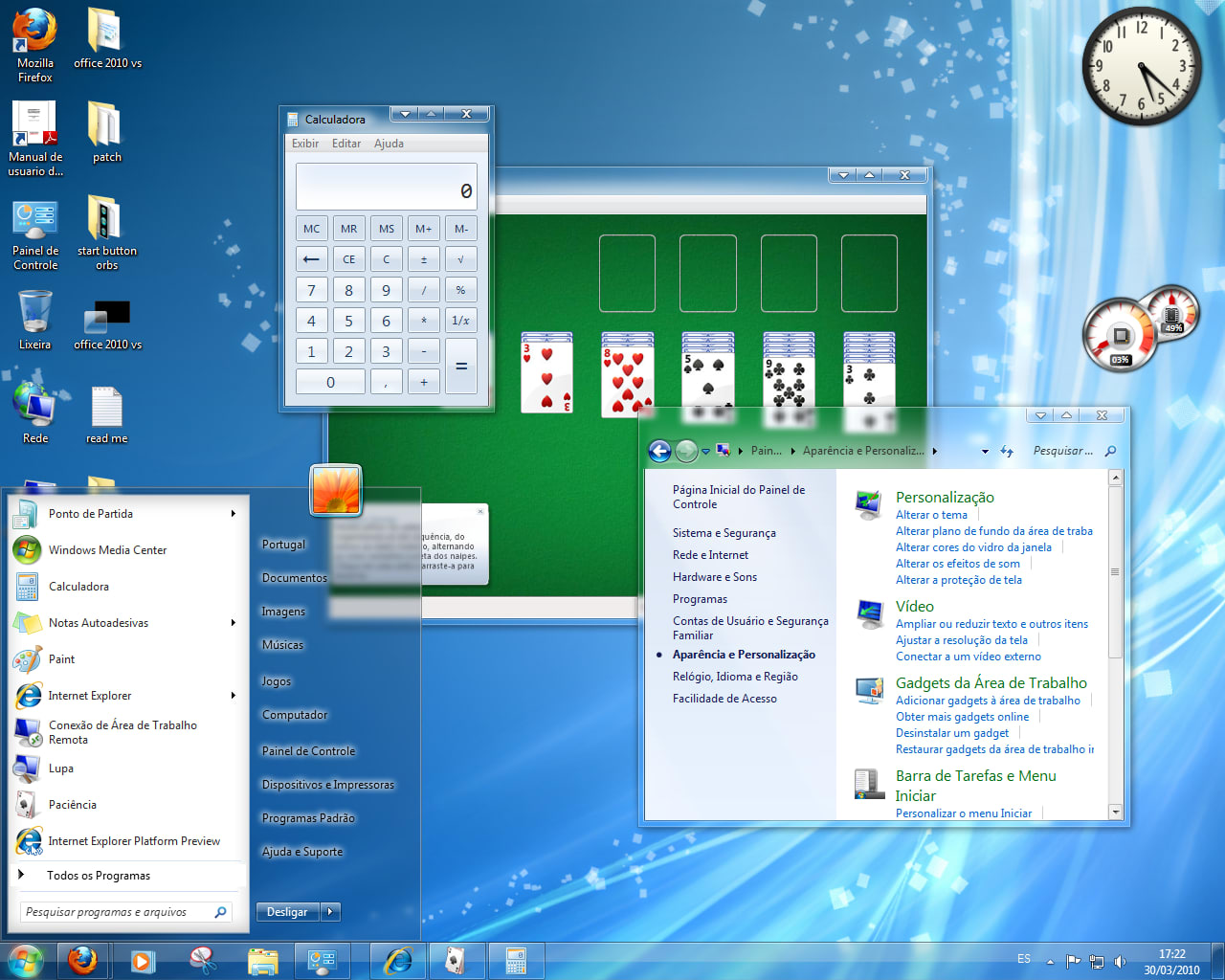Tema Office 2010 VS for Windows 7