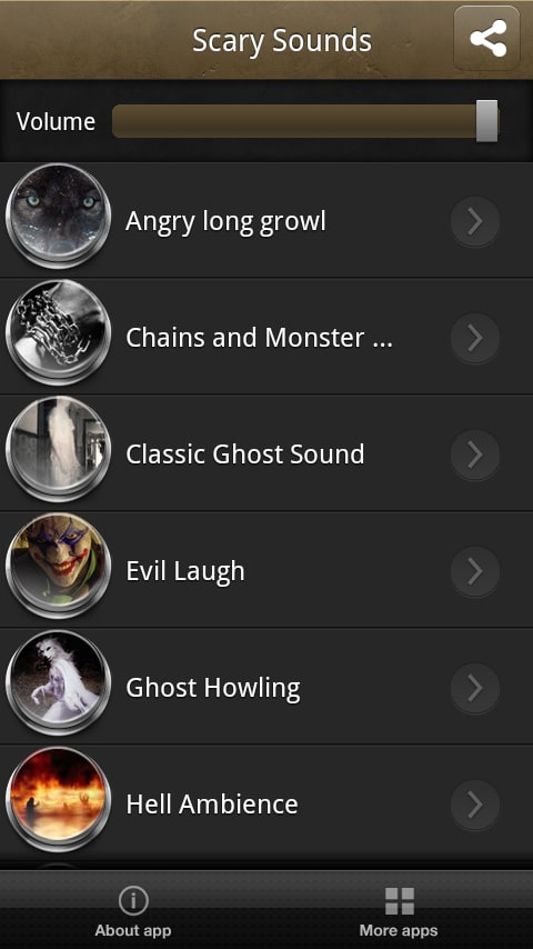 Scary sounds