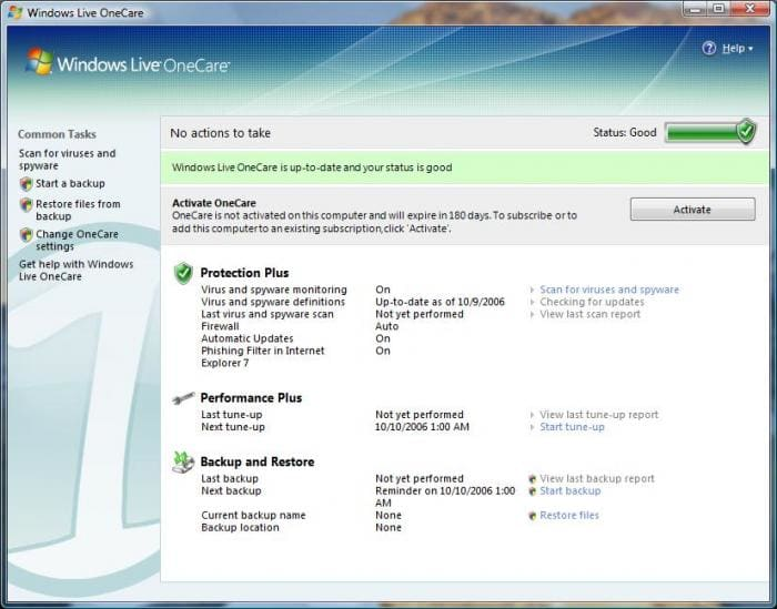 Windows live onecare windows download softonic review ccuart