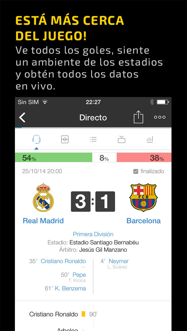 Scores & Video - football second screen app