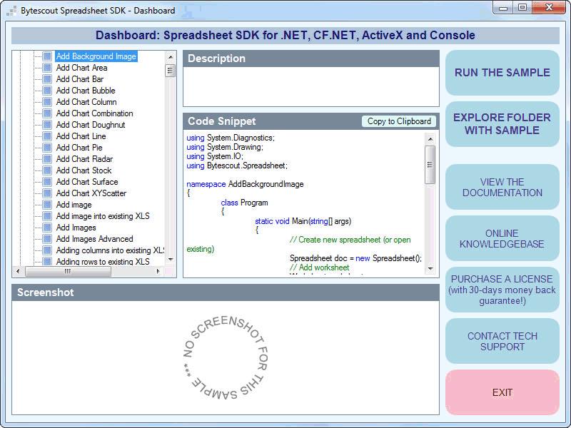 Bytescout Spreadsheet SDK