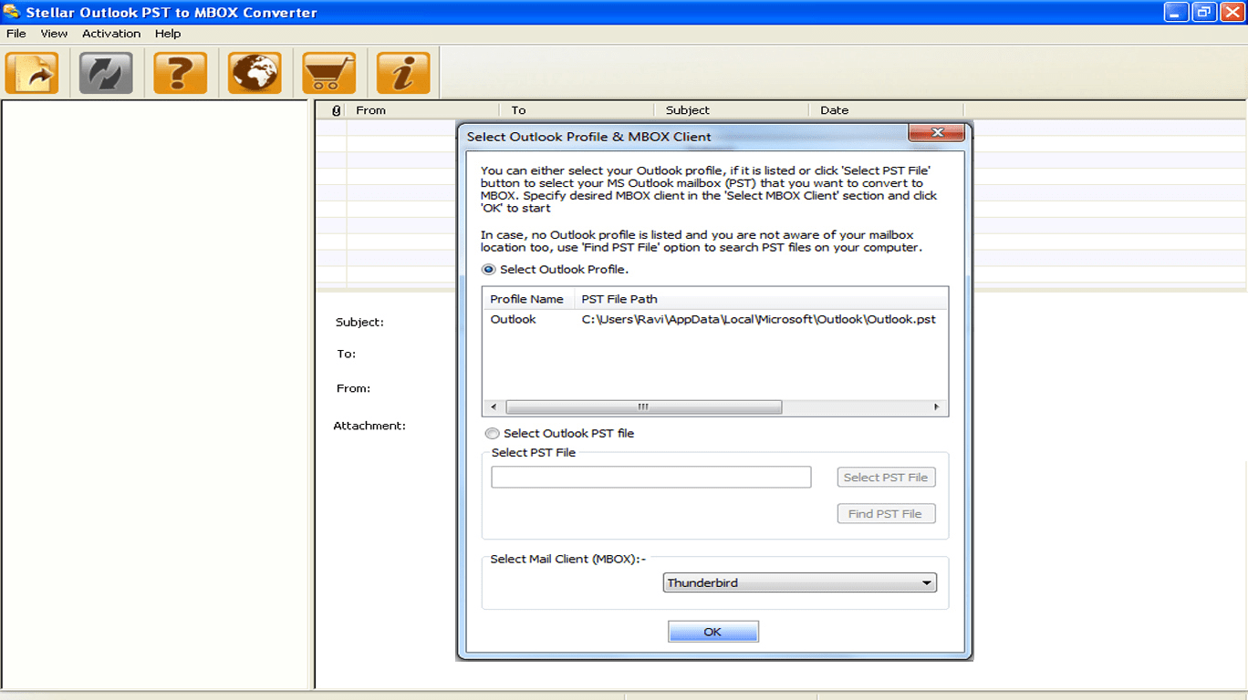 Stellar Outlook PST to MBOX Converter