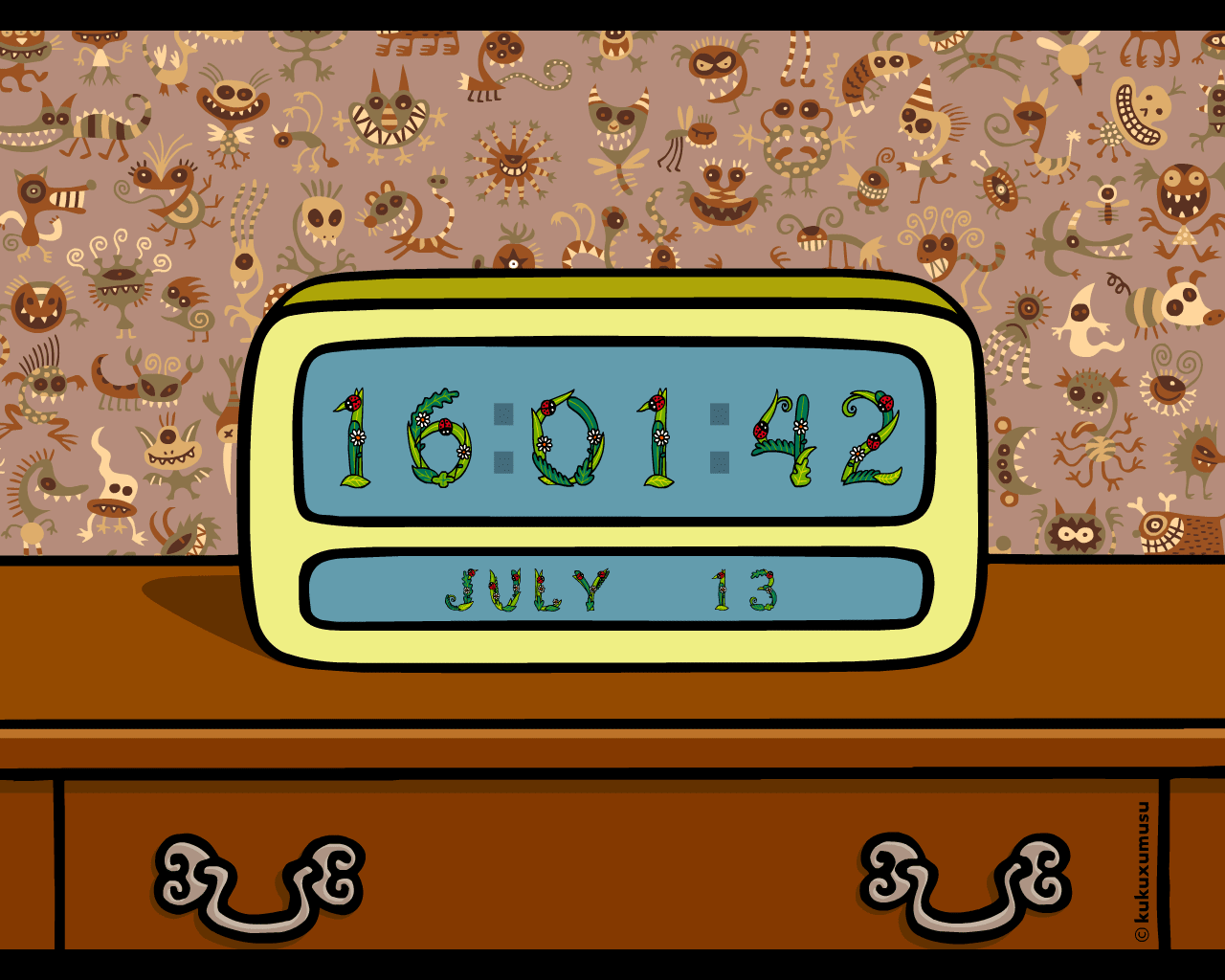 Kukuxumusu Digital Clock