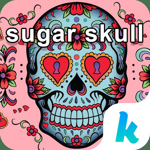 Sugar Skull Keyboard Theme 4.0