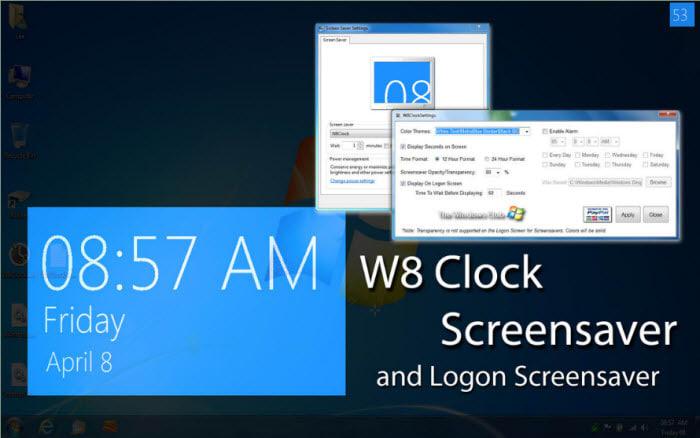 W8Clock Logon