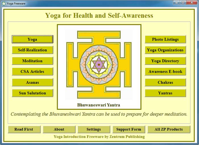 Yoga Freeware