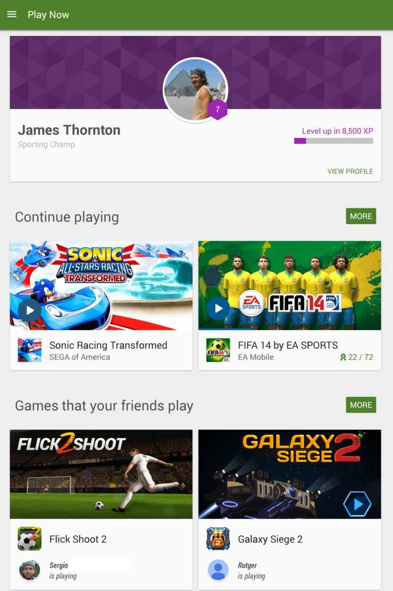 google play games for android download