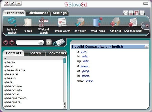 Diccionario parlante SlovoEd Compact inglés-italiano