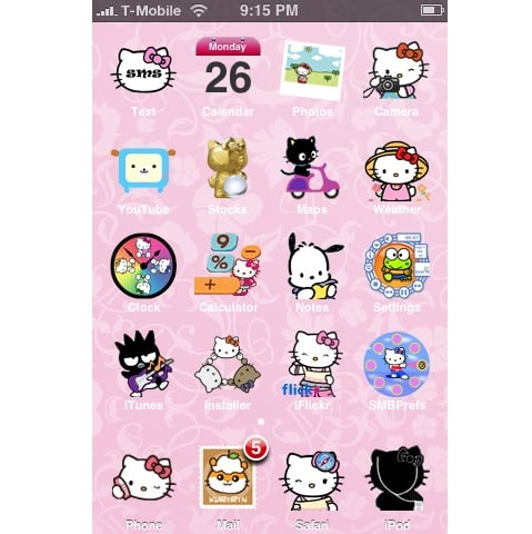 Hello kitty theme for iphone download hello kitty theme voltagebd Gallery
