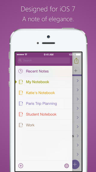 Microsoft OneNote na iPhone