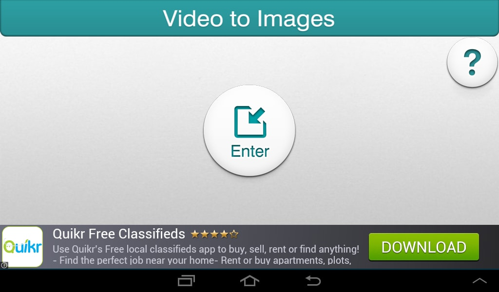 Video To Images Screen Capture For Android - Download