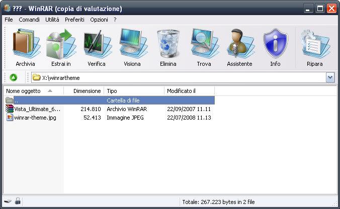 WinRAR Vista Ultimate Theme