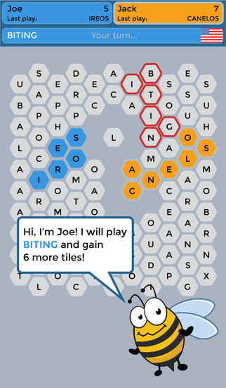 Wordy Bee - Find Words, Claim Tiles, Play with Friends