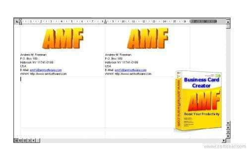 Business Card Creator for Word