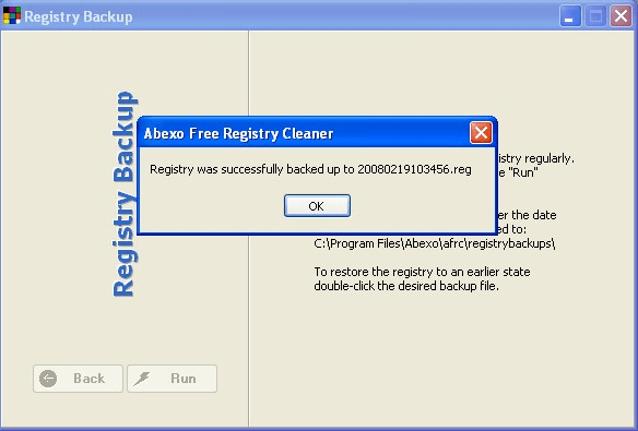 Abexo Free Registry Cleaner