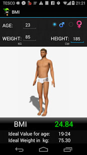 BMI 3D Calculator
