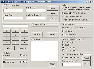 VaxVoIP SIP ActiveX SDK