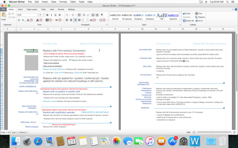 Nevron Writer for Mac OS
