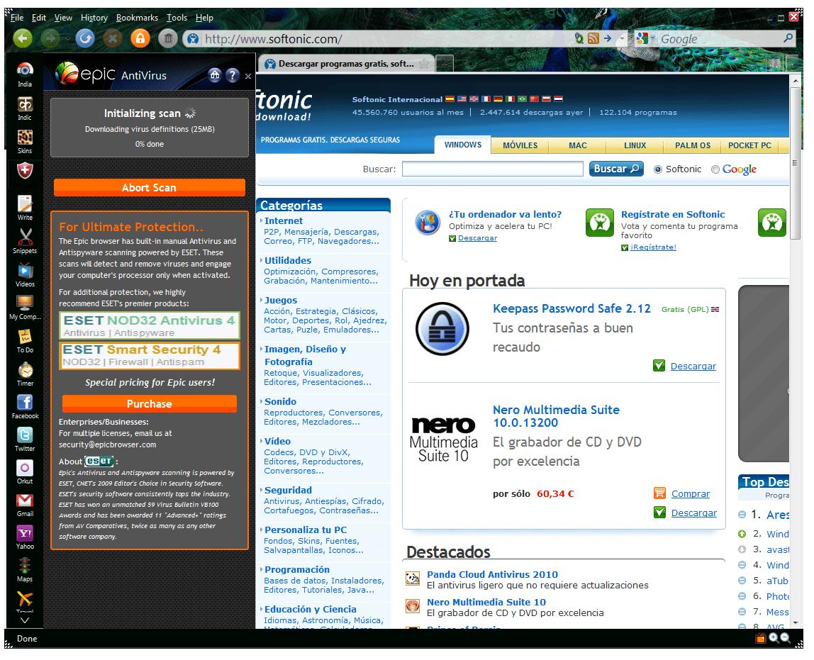 Epic browser for windows vista