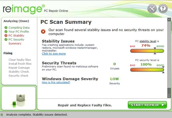 ReImage Online PC Repair