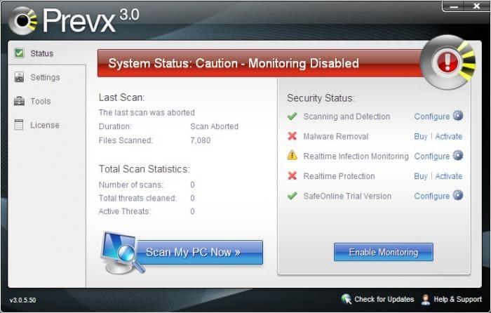 Prevx - Free Malware Scanner