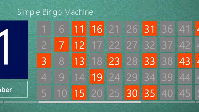Simple Bingo Machine for Windows 10
