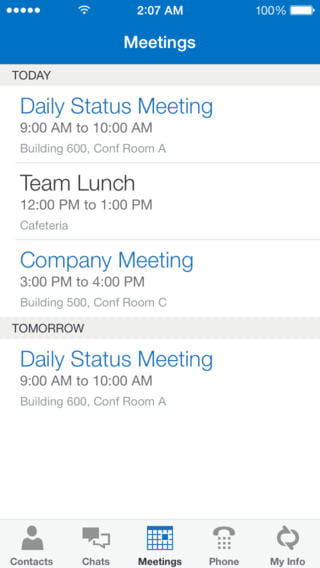 Lync 2013 for iPhone