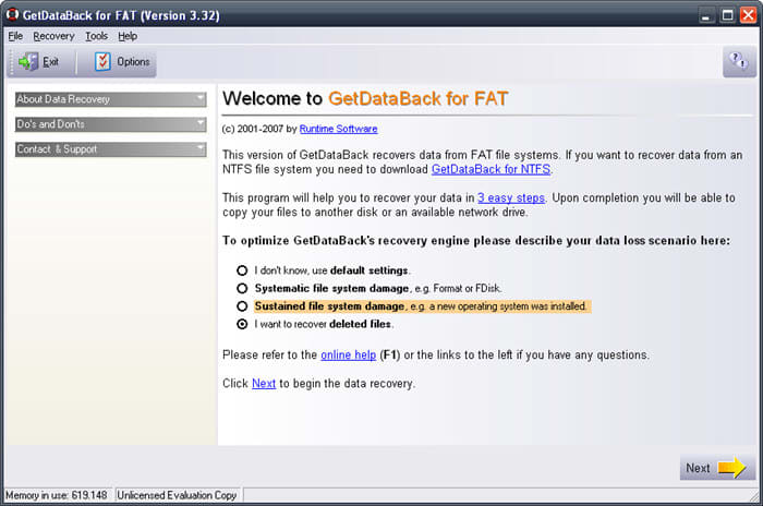 GetDataBack for FAT