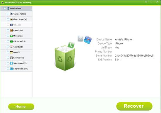 Amacsoft iOS Data Recovery