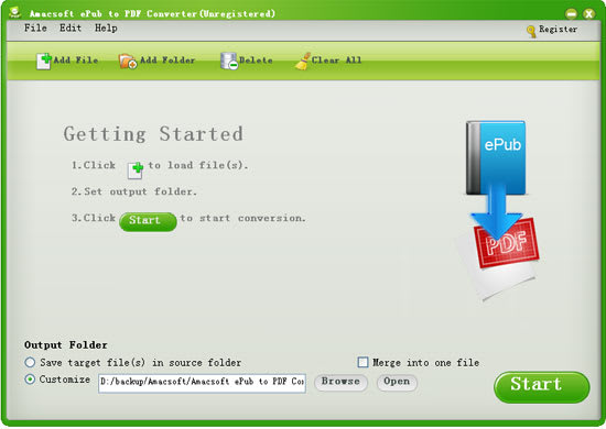 Amacsoft ePub to PDF Converter