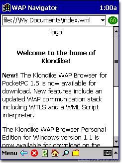 WAP Navigator