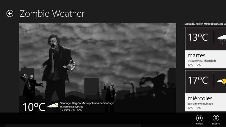 Zombie Weather para Windows 10