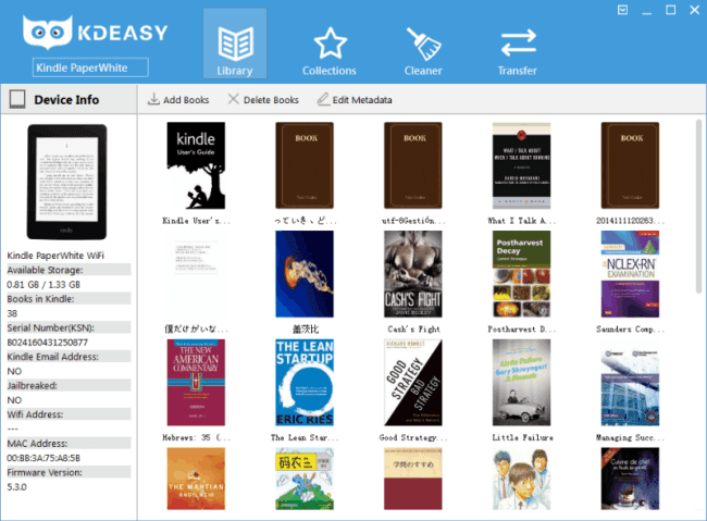 KDeasy Kindle Manager