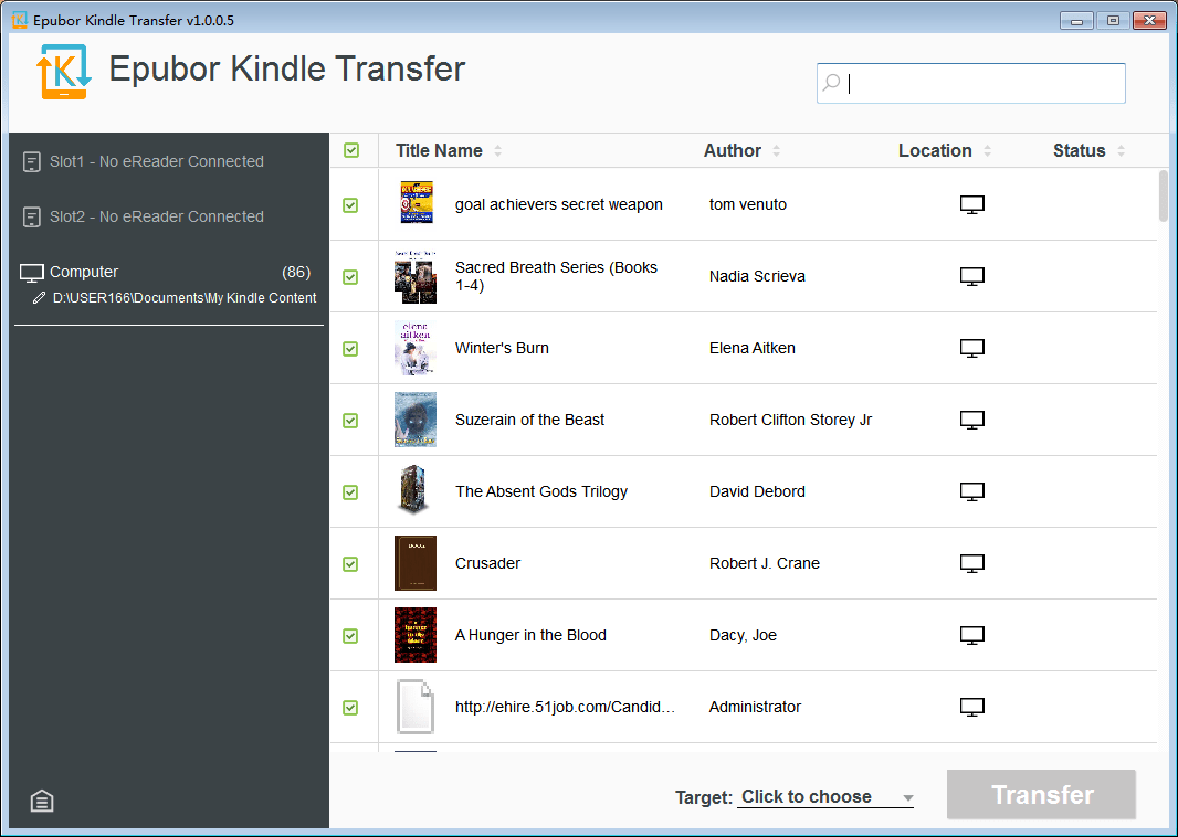 Epubor Kindle Transfer