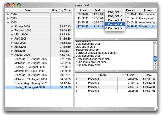 work time sheet