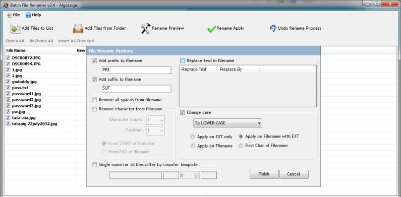 Batch Files Renamer