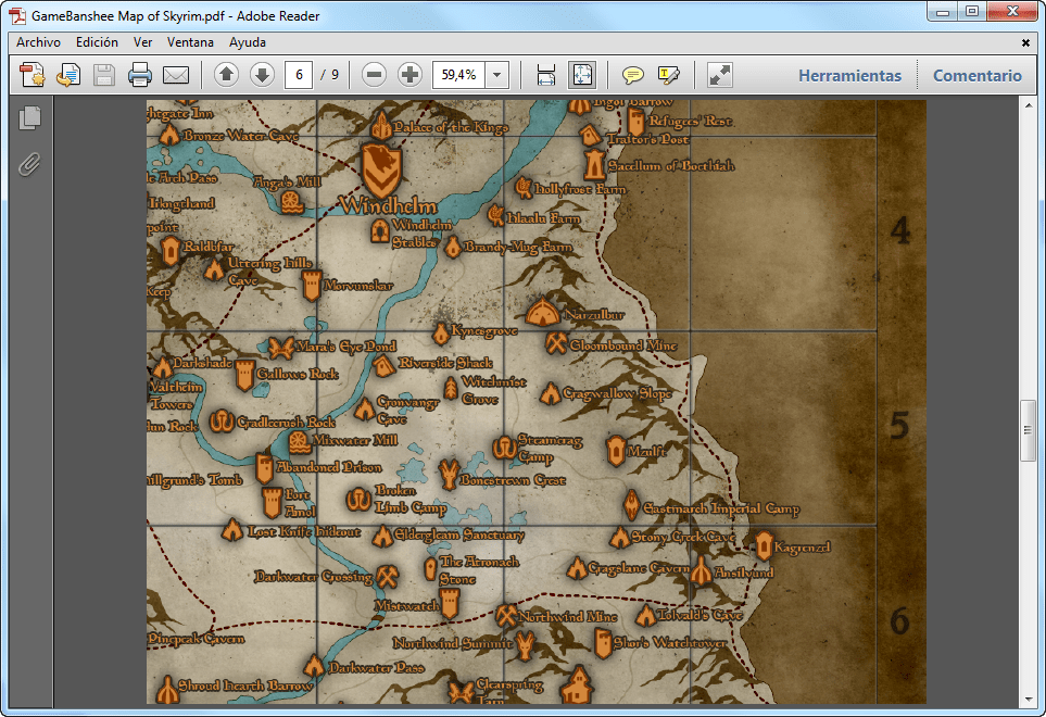 Skyrim map download this skyrim map helps you navigate and find your way around this massive world view full description gumiabroncs Choice Image