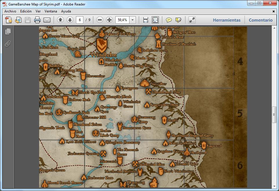 Skyrim Map  Download