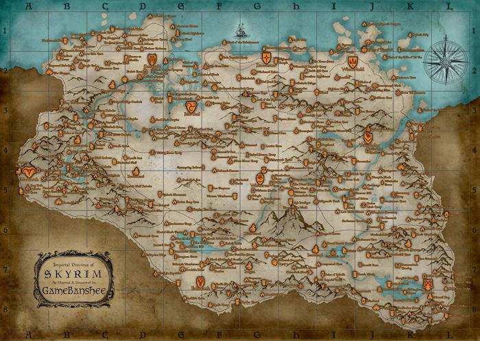 Mapa de Skyrim  Descargar