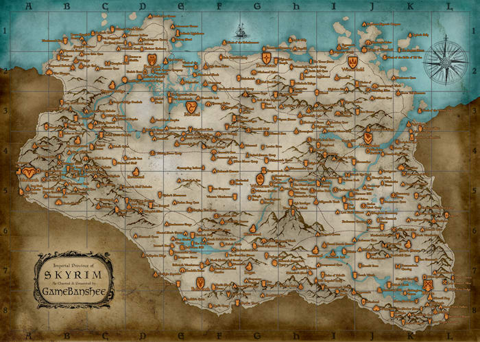 Skyrim map download skyrim map gumiabroncs Choice Image