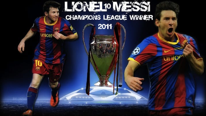 Lionel Messi Champions League Winner 2011