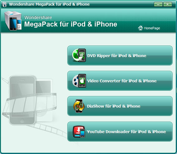 Wondershare MegaPack für iPod & iPhone