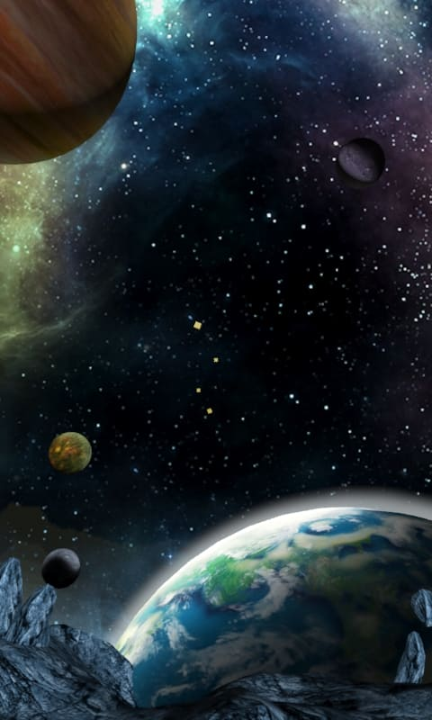 3D Galaxy Live Wallpaper For Android
