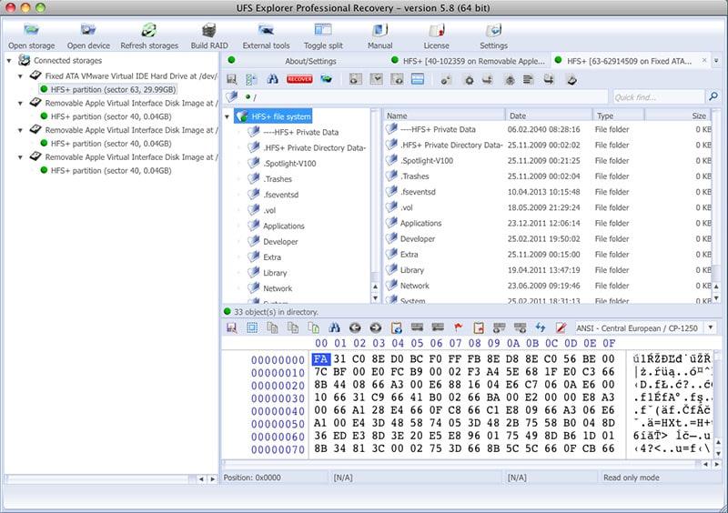 UFS Explorer Professional Recovery MacOS