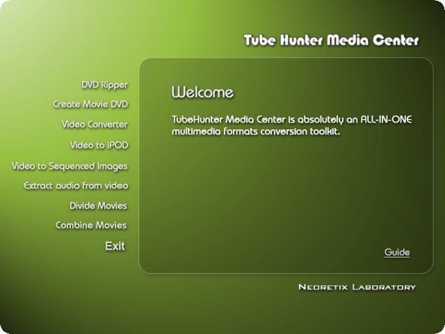 TubeHunter Media Center