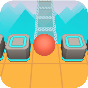 Scrolling Ball in Sky: casual rolling game